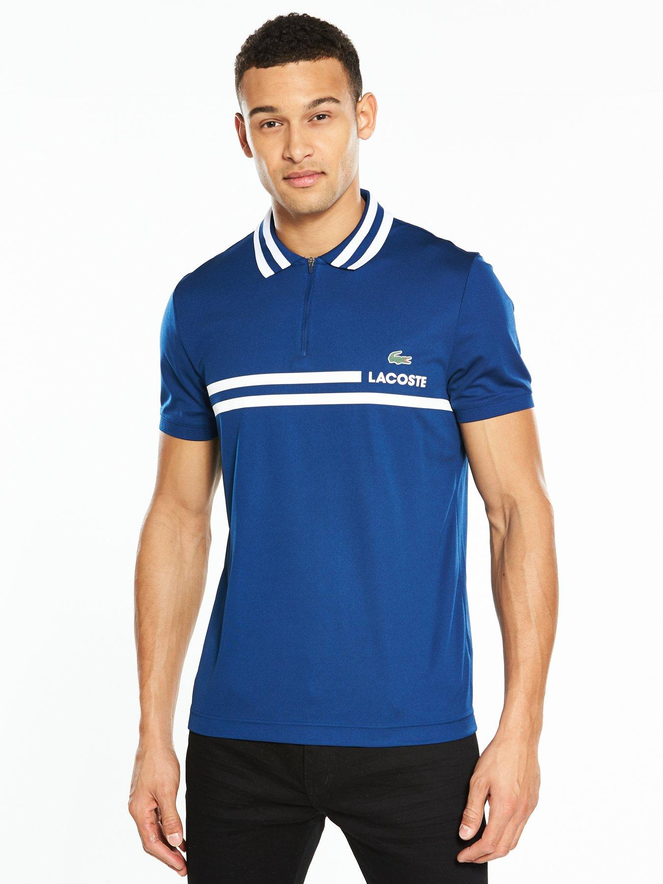 Lacoste Sport Striped Collar Polo