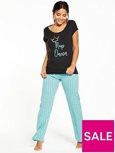v-by-very-nap-queen-polka-dot-pyjama-set