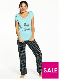 v-by-very-nap-queen-polka-dot-pyjama-set
