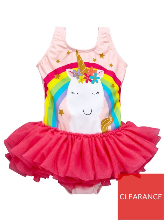6c87e08190 Mini V by Very Girls Unicorn Tutu Swimsuit | very.co.uk