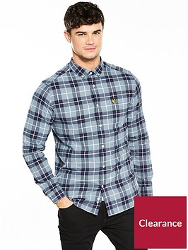 lyle-scott-lyle-amp-scott-check-flannel-shirt