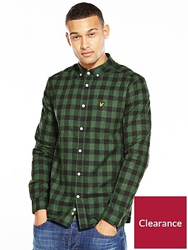 lyle-scott-lyle-amp-scott-flecked-check-shirt