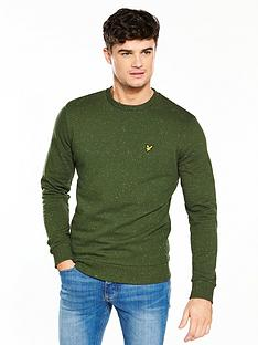 lyle-scott-lyle-amp-scott-flecked-sweatshirt