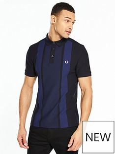 fred-perry-stripe-front-pique-polo