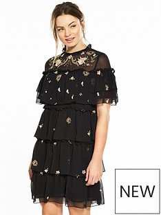 v-by-very-embroidered-tiered-shift-dress-blacknbsp