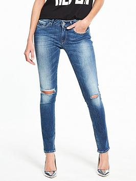Replay Luz Skinny Ripped Knee Jeans