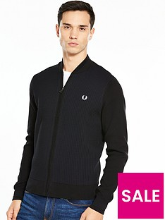 fred-perry-textured-bomber-cardigan
