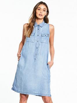 replay-sleeveless-denim-shirt-dress
