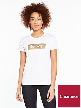 replay-metallic-logo-t-shirt-ndash-white