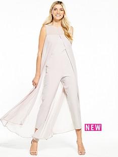 wallis-split-front-jumpsuit-grey