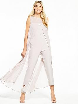wallis-split-front-jumpsuit-grey