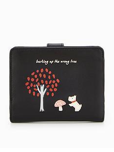 radley-the-wrong-tree-medium-foldover-purse-black
