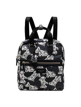 radley-folk-dog-medium-zip-top-backpack-black