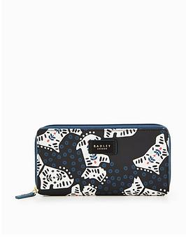 radley-folk-dog-large-zip-around-matinee-purse-black