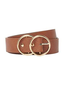 river-island-tan-double-ring-jeans-belt