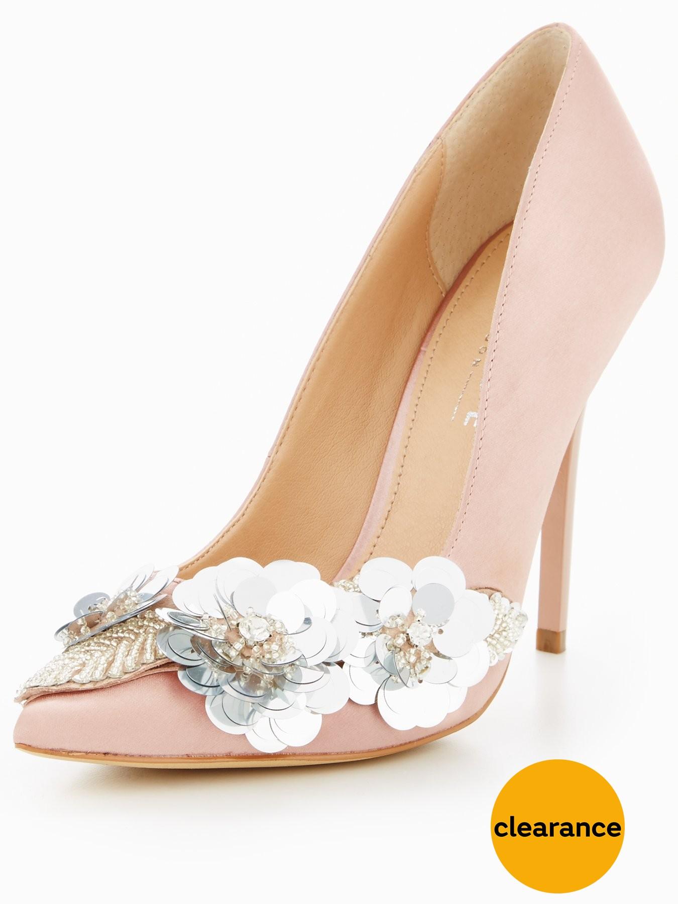 OFFICE Hot Stuff Embellished Ocourt 1600200705 Women's Shoes OFFICE Heels