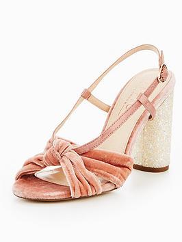 Office Hamper Velvet Heeled Sandal