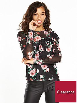 v-by-very-petite-mesh-printed-blouse