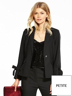 v-by-very-petite-bow-detail-tailored-blazer