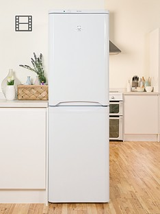 Indesit CAA55NF 55cm Frost Free Fridge Freezer - White