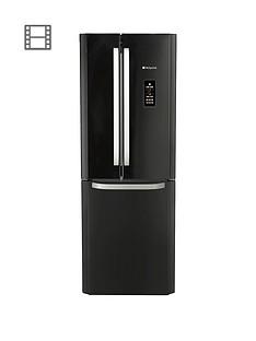 Hotpoint FFU3DGK American Style70cm Frost Free Fridge Freezer - Black