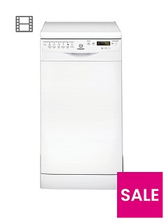 Indesit DSR57M96Z 10-Place Slimline Dishwasher - White