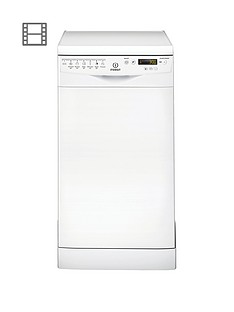 Indesit Extra Baby Care DSR57H96Z 10-Place Slimline Dishwasher - White