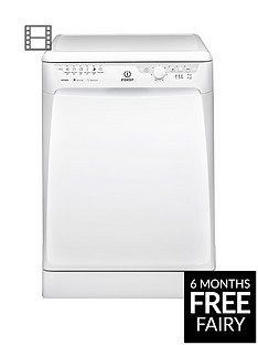 Indesit DFP27B1 13-Place Full Size Dishwasher - White Best Price, Cheapest Prices
