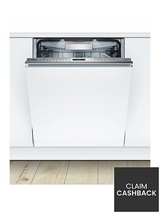 Bosch Serie 8 SMV68TD06G 14-Place Integrated Dishwasher with PerfectDry - White Best Price, Cheapest Prices