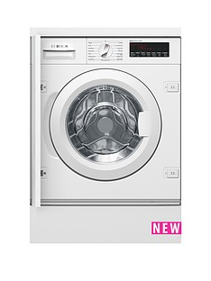 Bosch Serie 8 WIW28500GB 8kg Load, 1400 Spin Integrated Washing Machine - White