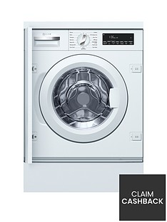 Neff W544BX0GB 8kg Load, 1400 Spin Integrated Washing Machine - White