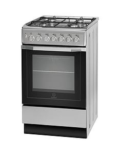 Indesit I5GSH1S 50cm Dual Fuel Cooker and Gas Hob with FSD - Silver