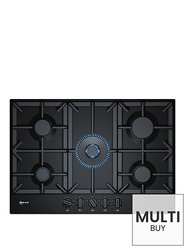 neff-t27ds59s0-75cm-built-in-gas-hob-black