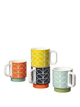 orla-kiely-house-set-4-stacking-mugs-stem