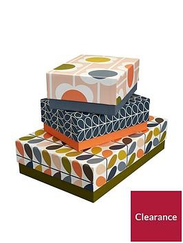 orla-kiely-orla-kiely-storage-box-set-of-3-flowersstem