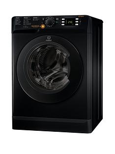 Indesit XWDE861480XK 1400 Spin, 8kg Wash, 6kg Dry Washer Dryer - Black