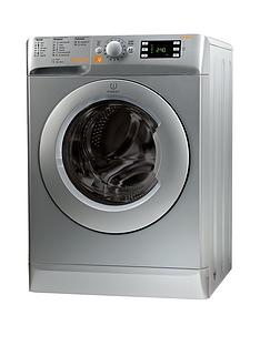Indesit XWDE861480XS 1400 Spin, 8kg Wash, 6kg Dry Washer Dryer - Silver