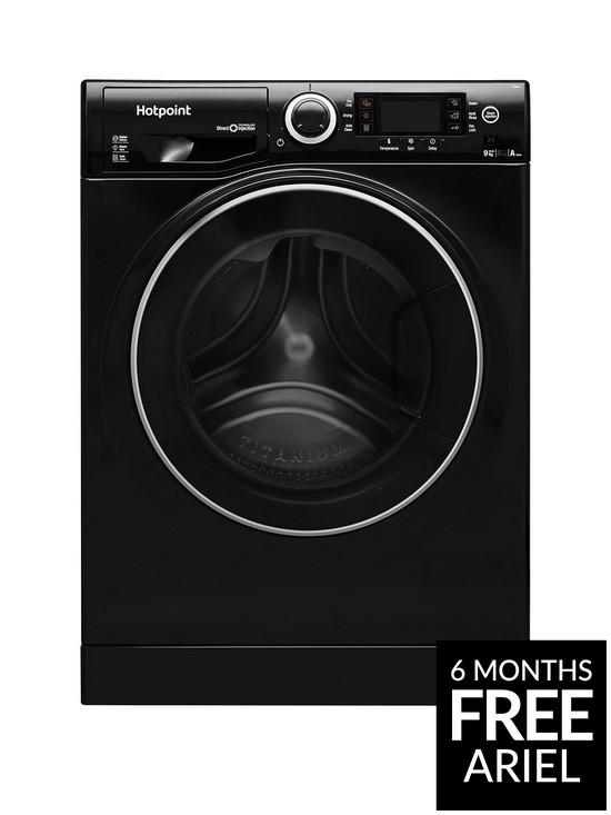 cf00fa4406 Hotpoint Ultima S-Line RD966JKD 9kg Wash, 6kg Dry, 1600 Spin Washer Dryer -  Black
