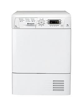 Hotpoint Tdhp871Rp 8Kg Load Heat Pump Tumble Dryer - White Review thumbnail