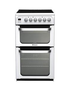 hotpoint-ultima-hue53ps-50cm-electric-cooker-with-ceramic-hob-white