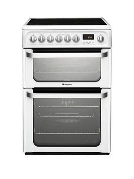 Hotpoint Hue62Ps 60Cm Electric Cooker With Ceramic Hob - White Review thumbnail