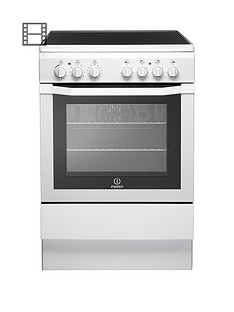 Indesit I6VV2AW 60cm Electric Cooker with Ceramic Hob - White Best Price, Cheapest Prices