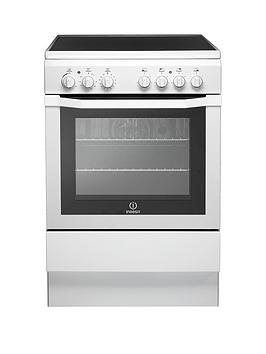 Indesit I6Vv2Aw 60Cm Electric Cooker With Ceramic Hob - White
