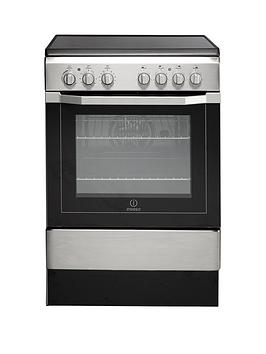 Indesit I6Vv2Ax 60Cm Electric Cooker With Ceramic Hob - Stainless Steel Best Price, Cheapest Prices