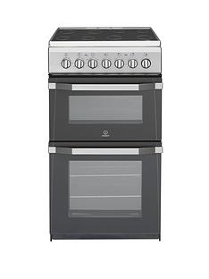 Indesit IT50C1S 50cm Wide Electric Cooker with Ceramic Hob - Silver