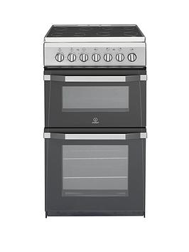 indesit-it50c1s-50cmnbspwide-electric-cooker-with-ceramic-hob-silver