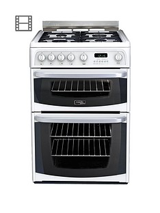 cannon-by-hotpoint-ch60gciw-60cmnbspdouble-oven-gas-cooker-with-fsd-white