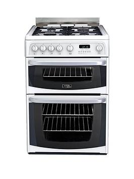 Cannon By Hotpoint Ch60Gciw 60Cm Double Oven Gas Cooker With Fsd - White