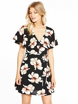 Ri Petite Floral Tea Dress