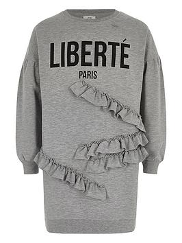 river-island-girls-grey-039liberte039-frill-sweatshirt-dress